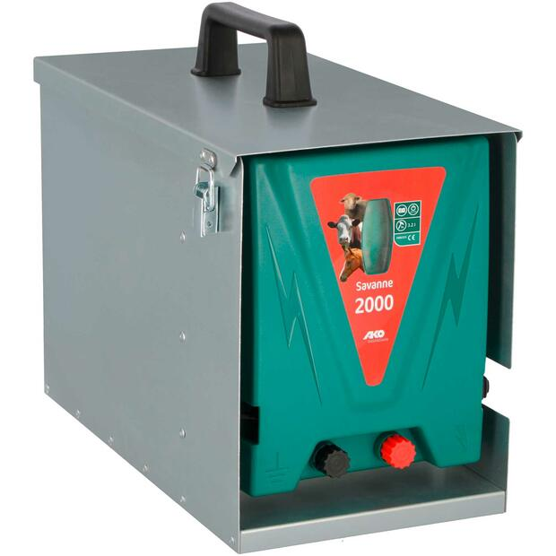 AKO Savanne 2000 electric fence energiser with Metallbox,...