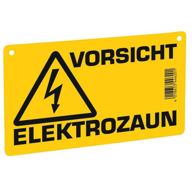 Warning sign-electric fence