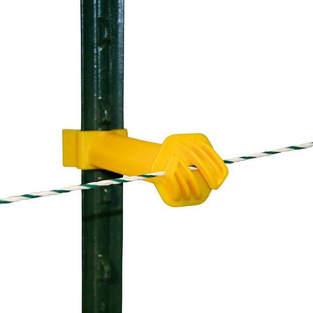 Distance insulator T-post yellow