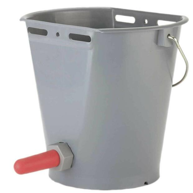 Calf drinking bucket 8 L grey
