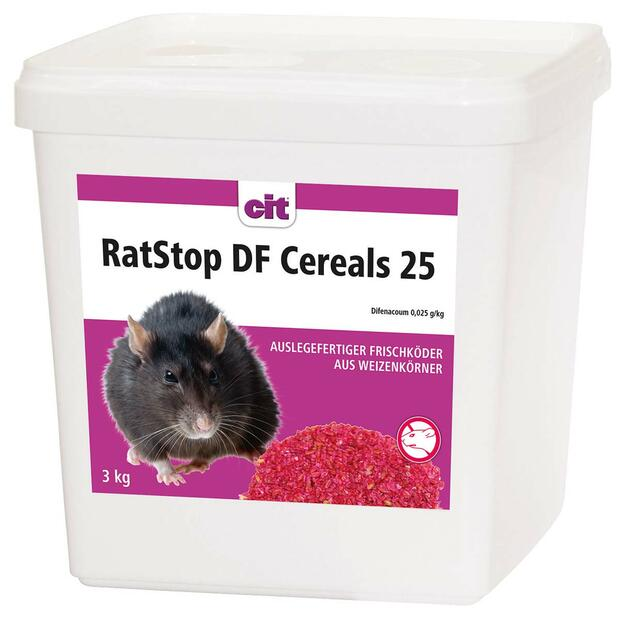RatStop DF Cereal 25 wheat bait
