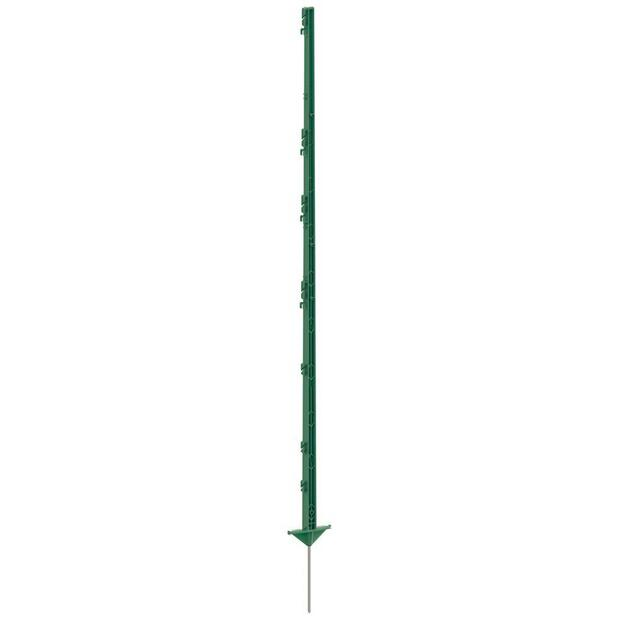 5x Ako plastic post CLASSIC 156 cm, double step, green