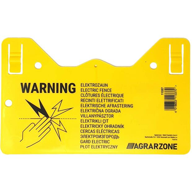 Agrarzone Warning Sign Hook in
