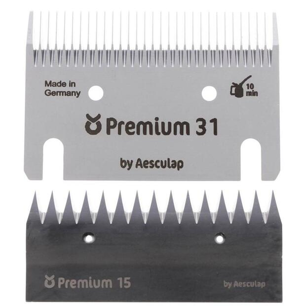 Shear blade set Premium for FarmClipper Akku2 Horse 31/15