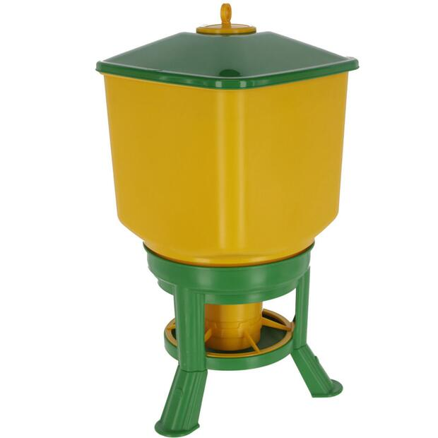 Automatic feeder with feet yellow-green