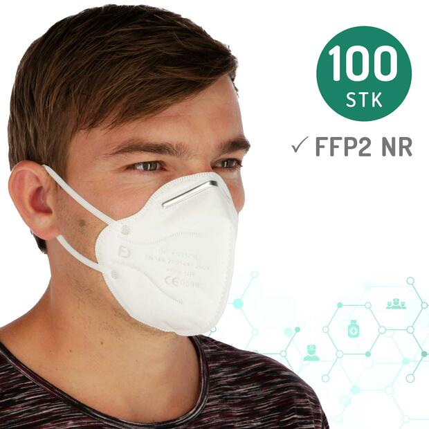 100x Respirator Mask FFP2 without valve