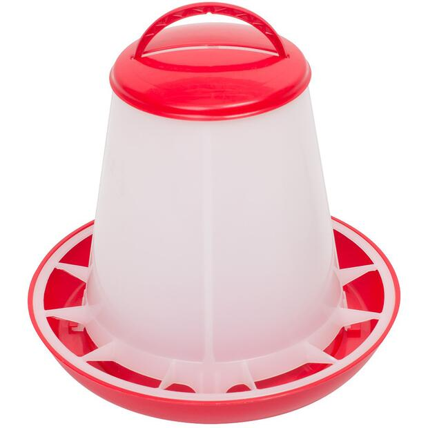 Poultry feeder with red lid 1 kg