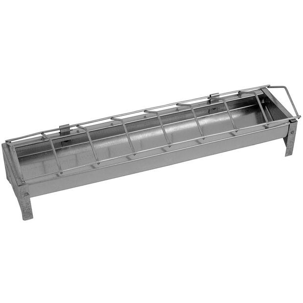 Chick feed trough galvanized