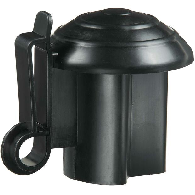 Top insulator T-post black