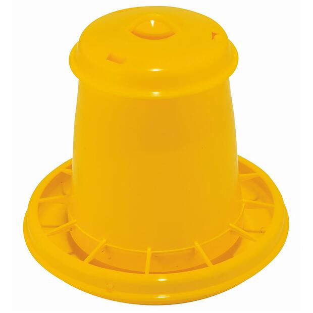 Feeder for poultry plastic yellow